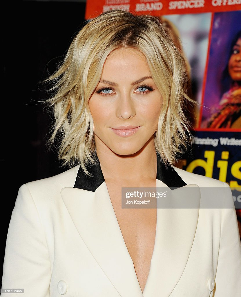 Actress Julianne Hough arrives at the Los Angeles Premiere 'Paradise' at Mann Chinese 6 on August 6, 2013 in Los Angeles, California.