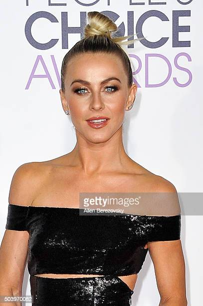 Actress Julianne Hough arrives at the People's Choice Awards 2016 at Microsoft Theater on January 6 2016 in Los Angeles California