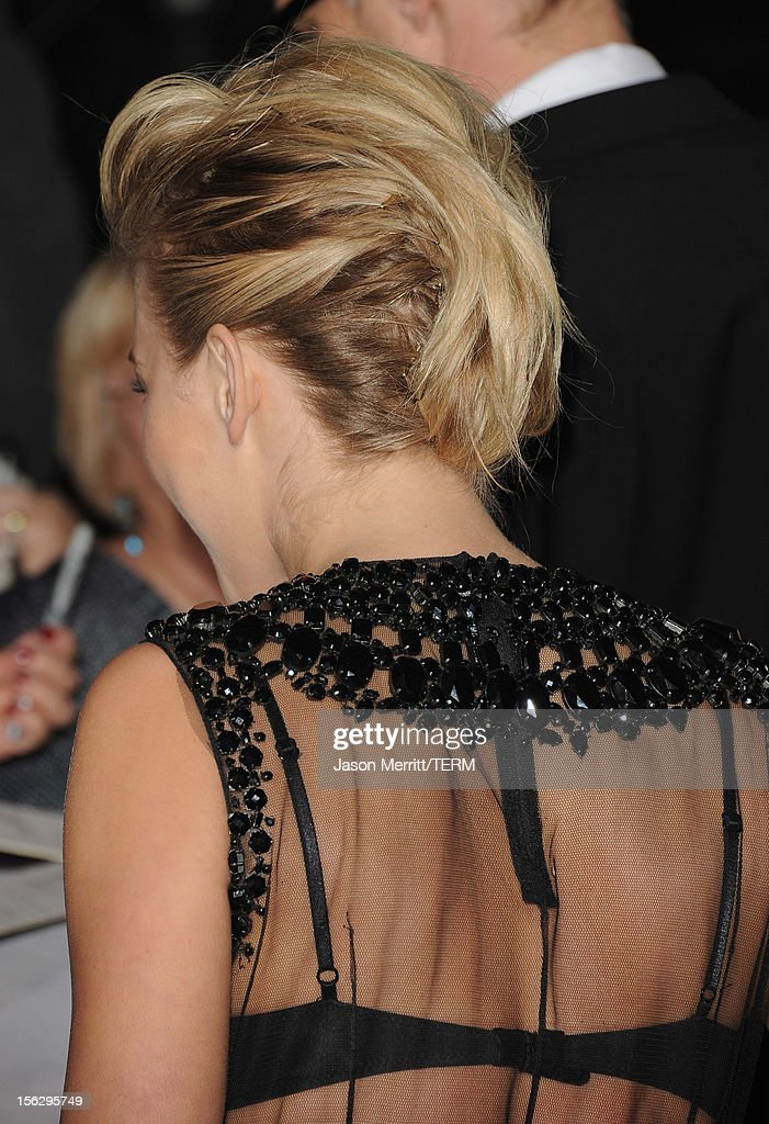 Actress Julianne Hough (hair detail) arrives at the premiere of Summit Entertainment's 'The Twilight Saga: Breaking Dawn - Part 2' at Nokia Theatre L.A. Live on November 12, 2012 in Los Angeles, California.