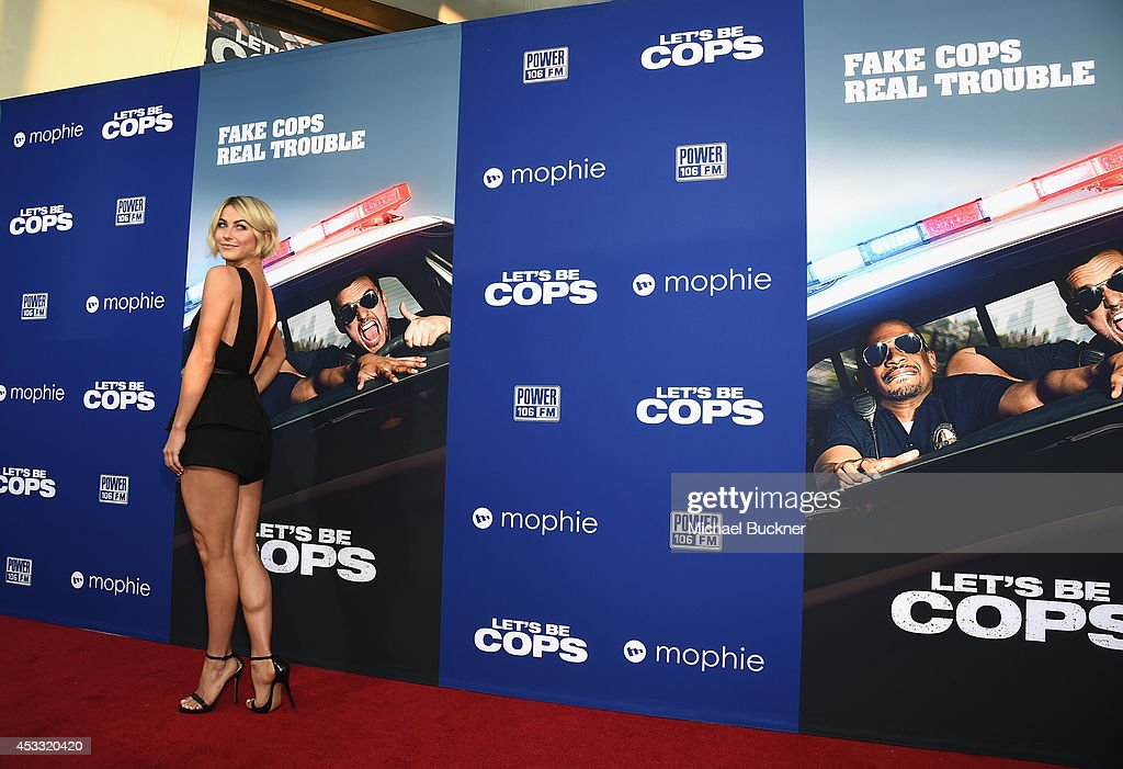 Actress <a gi-track='captionPersonalityLinkClicked' href=/galleries/search?phrase=Julianne+Hough&family=editorial&specificpeople=4237560 ng-click='$event.stopPropagation()'>Julianne Hough</a> arrives at the premiere of Twentieth Century Fox's 'Let's Be Cops' at ArcLight Hollywood on August 7, 2014 in Hollywood, California.