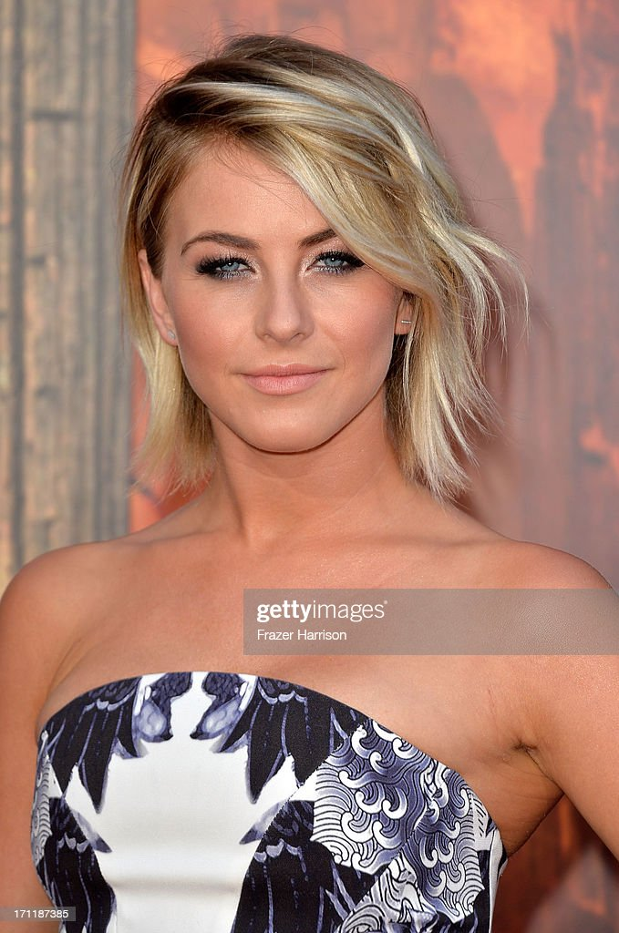Actress Julianne Hough arrives at the premiere of Walt Disney Pictures' 'The Lone Ranger' at Disney California Adventure Park on June 22, 2013 in Anaheim, California.