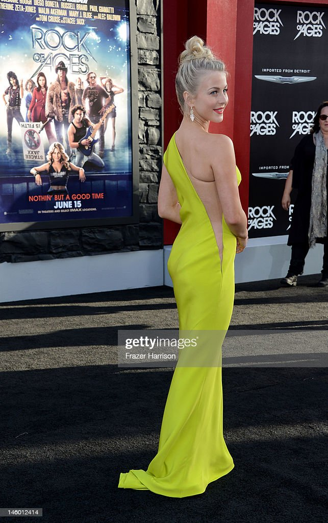 Actress Julianne Hough arrives at the premiere of Warner Bros. Pictures' 'Rock of Ages' at Grauman's Chinese Theatre on June 8, 2012 in Hollywood, California.