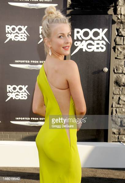 Actress Julianne Hough arrives at the 'Rock of Ages' Los Angeles premiere at Grauman's Chinese Theatre on June 8 2012 in Hollywood California