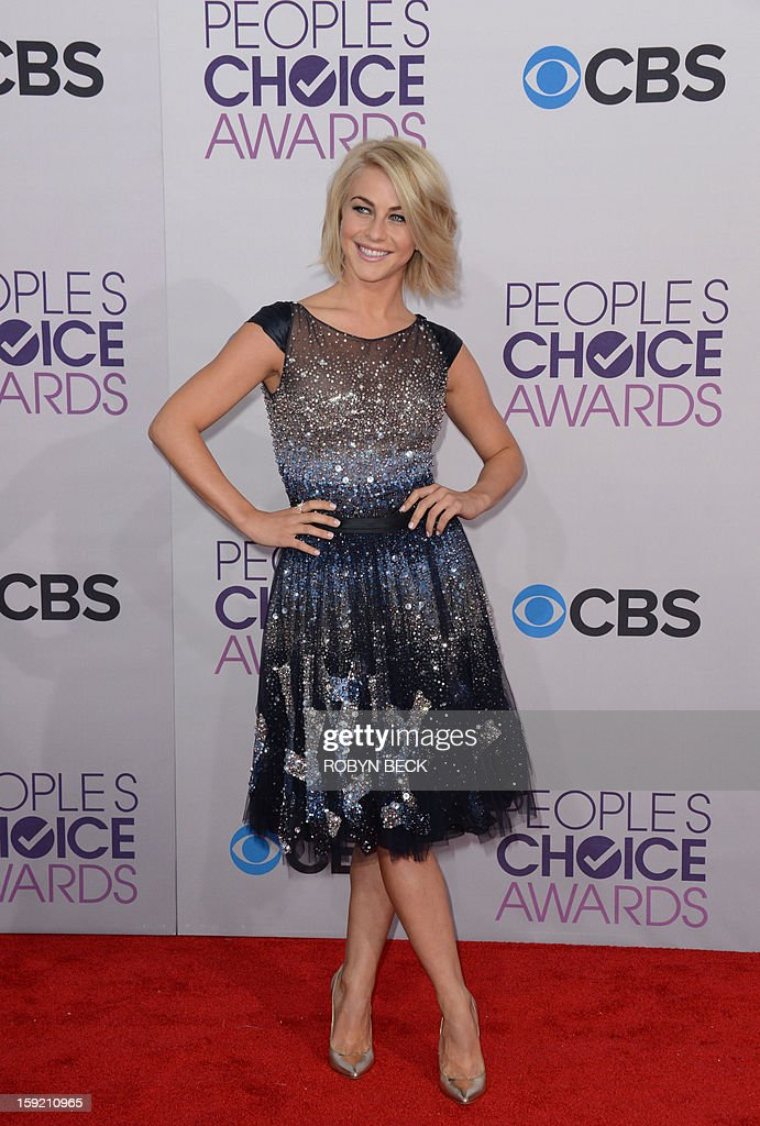 Actress Julianne Hough arrives for the 34th Annual People's Choice Awards at the Nokia Theatre in Los Angeles, California, January 9, 2013. AFP PHOTO / Robyn Beck