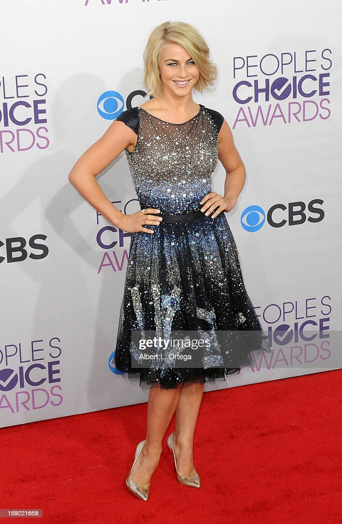 Actress Julianne Hough arrives for the 34th Annual People's Choice Awards - Arrivals held at Nokia Theater at L.A. Live on January 9, 2013 in Los Angeles, California.