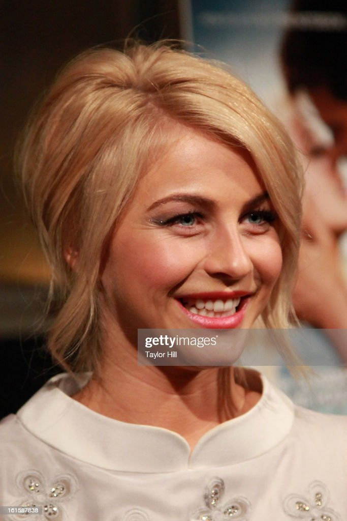 Actress <a gi-track='captionPersonalityLinkClicked' href=/galleries/search?phrase=Julianne+Hough&family=editorial&specificpeople=4237560 ng-click='$event.stopPropagation()'>Julianne Hough</a> attends a New York screening of 'Safe Haven' at Landmark Sunshine Cinema on February 11, 2013 in New York City.