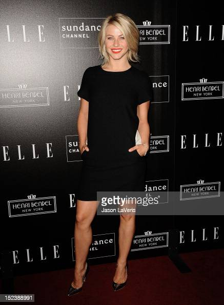 Actress Julianne Hough attends ELLE Sundance Channel's celebration of 'All On The Line With Joe Zee' at Soho House on September 19 2012 in West...