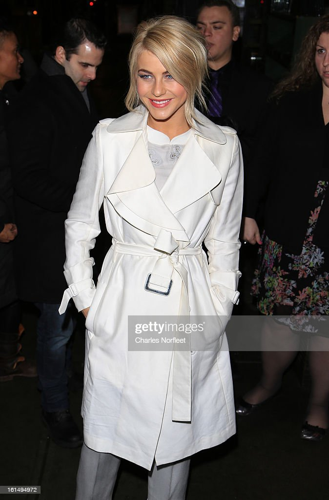Actress <a gi-track='captionPersonalityLinkClicked' href=/galleries/search?phrase=Julianne+Hough&family=editorial&specificpeople=4237560 ng-click='$event.stopPropagation()'>Julianne Hough</a> attends 'Safe Haven' New York Screening at Sunshine Landmark on February 11, 2013 in New York City.