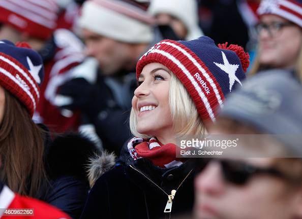 Actress Julianne Hough attends the 2015 Bridgestone NHL Winter Classic at Nationals Park on January 1 2015 in Washington DC The Capitals defeated the...