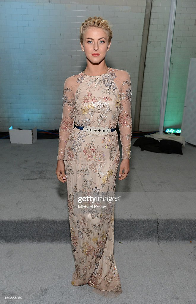 Actress <a gi-track='captionPersonalityLinkClicked' href=/galleries/search?phrase=Julianne+Hough&family=editorial&specificpeople=4237560 ng-click='$event.stopPropagation()'>Julianne Hough</a> attends The Art of Elysium's 6th Annual HEAVEN Gala presented by Audi at 2nd Street Tunnel on January 12, 2013 in Los Angeles, California.