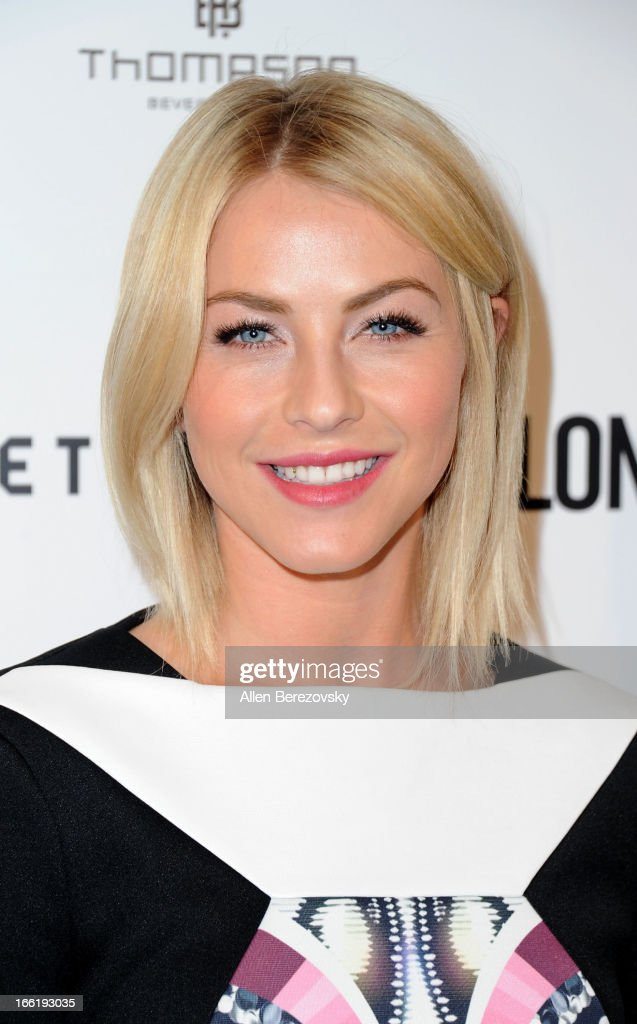 Actress <a gi-track='captionPersonalityLinkClicked' href=/galleries/search?phrase=Julianne+Hough&family=editorial&specificpeople=4237560 ng-click='$event.stopPropagation()'>Julianne Hough</a> attends the British Fashion Council's International Showcasing Initiative 'London Show Rooms LA' at Thompson Hotel on April 9, 2013 in Beverly Hills, California.
