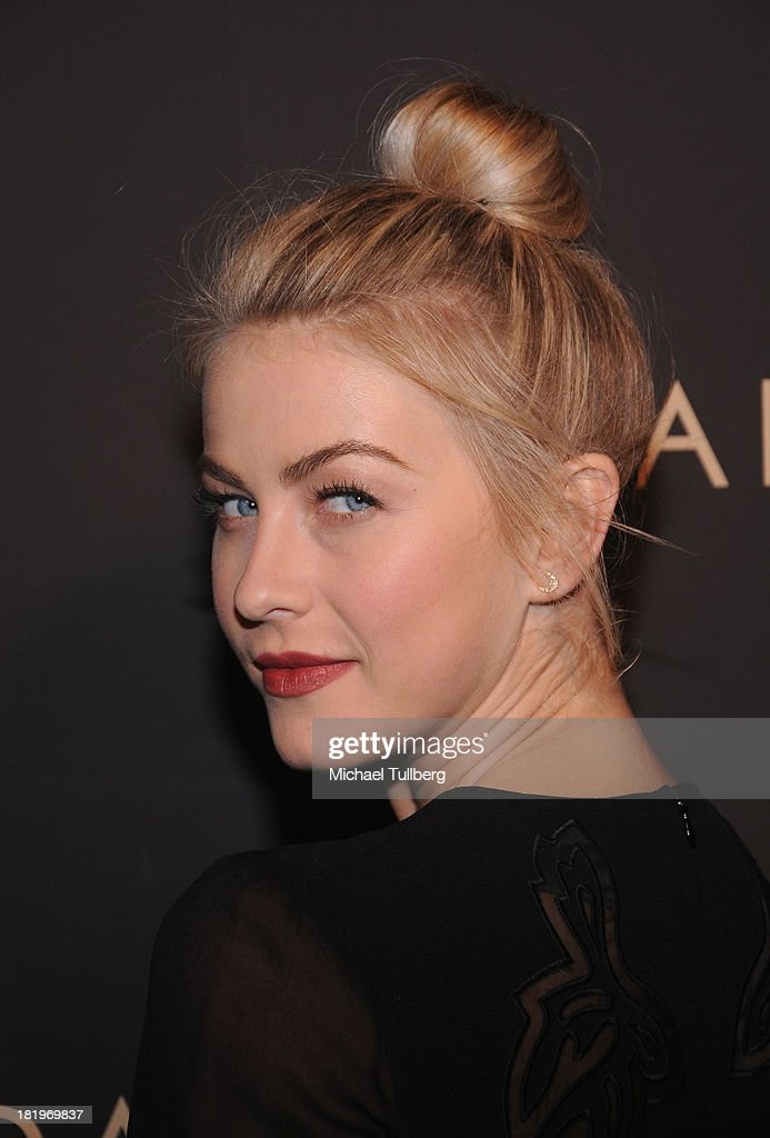 Actress <a gi-track='captionPersonalityLinkClicked' href=/galleries/search?phrase=Julianne+Hough&family=editorial&specificpeople=4237560 ng-click='$event.stopPropagation()'>Julianne Hough</a> attends the 'Celebrate Cool Earth' benefit for the Cool Earth Foundation at Escada Boutique on September 26, 2013 in Beverly Hills, California.