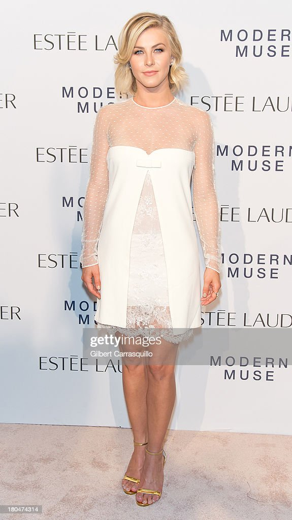 Actress <a gi-track='captionPersonalityLinkClicked' href=/galleries/search?phrase=Julianne+Hough&family=editorial&specificpeople=4237560 ng-click='$event.stopPropagation()'>Julianne Hough</a> attends the Estee Lauder 'Modern Muse' Fragrance Launch at Guggenheim Museum on September 12, 2013 in New York City.