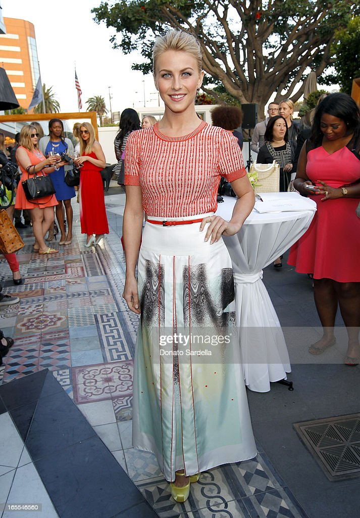 Actress <a gi-track='captionPersonalityLinkClicked' href=/galleries/search?phrase=Julianne+Hough&family=editorial&specificpeople=4237560 ng-click='$event.stopPropagation()'>Julianne Hough</a> attends the first-ever Lucky Magazine two day FABB West at SLS Hotel on April 4, 2013 in Beverly Hills, California.