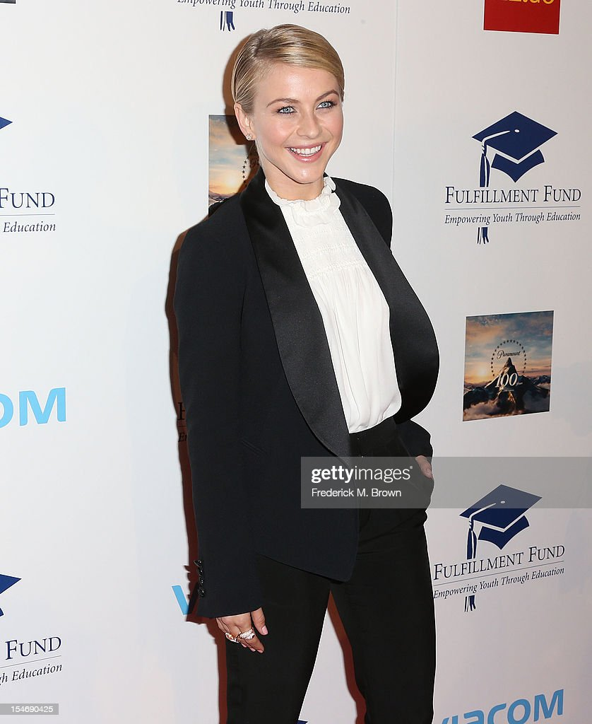 Actress <a gi-track='captionPersonalityLinkClicked' href=/galleries/search?phrase=Julianne+Hough&family=editorial&specificpeople=4237560 ng-click='$event.stopPropagation()'>Julianne Hough</a> attends The Fullfillment Fund's STARS 2012 Benefit Gala at The Beverly Hilton Hotel on October 24, 2012 in Beverly Hills, California.