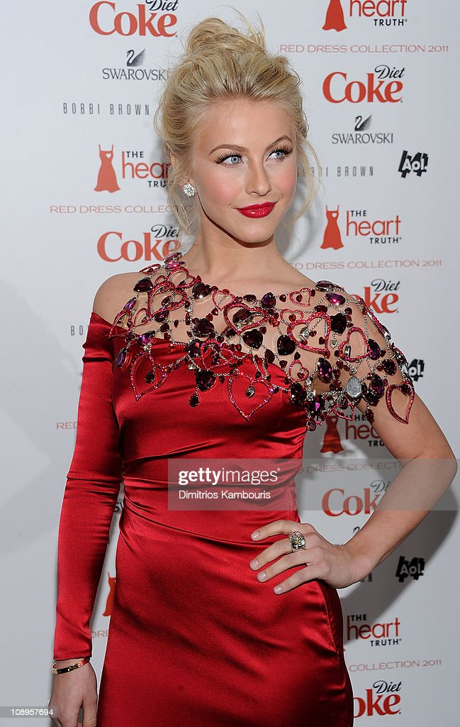 Actress <a gi-track='captionPersonalityLinkClicked' href=/galleries/search?phrase=Julianne+Hough&family=editorial&specificpeople=4237560 ng-click='$event.stopPropagation()'>Julianne Hough</a> attends the Heart Truth's Red Dress Collection 2011 during Mecerdes-Benz fashion week at The Theatre at Lincoln Center on February 9, 2011 in New York City.