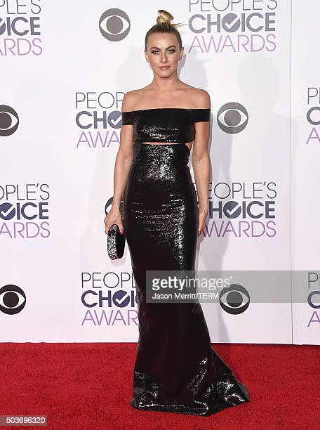 Actress Julianne Hough attends the People's Choice Awards 2016 at Microsoft Theater on January 6 2016 in Los Angeles California