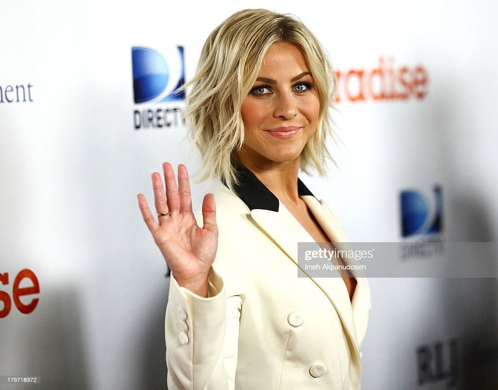 Actress <a gi-track='captionPersonalityLinkClicked' href=/galleries/search?phrase=Julianne+Hough&family=editorial&specificpeople=4237560 ng-click='$event.stopPropagation()'>Julianne Hough</a> attends the premiere of DirecTV's 'Paradise' at Mann Chinese 6 on August 6, 2013 in Los Angeles, California.