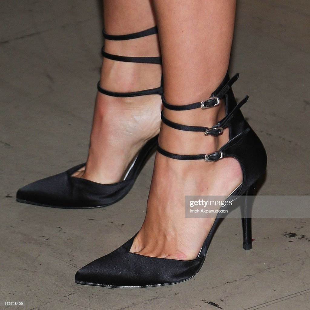 Actress Julianne Hough (shoe detail) attends the premiere of DirecTV's 'Paradise' at Mann Chinese 6 on August 6, 2013 in Los Angeles, California.