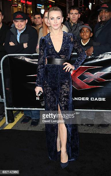 Actress Julianne Hough attends the premiere of Paramount Pictures' 'xXx Return of Xander Cage' at TCL Chinese Theatre IMAX on January 19 2017 in...