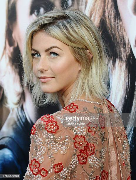 Actress Julianne Hough attends the premiere of 'The Mortal Instruments City Of Bones' at ArcLight Cinemas Cinerama Dome on August 12 2013 in...