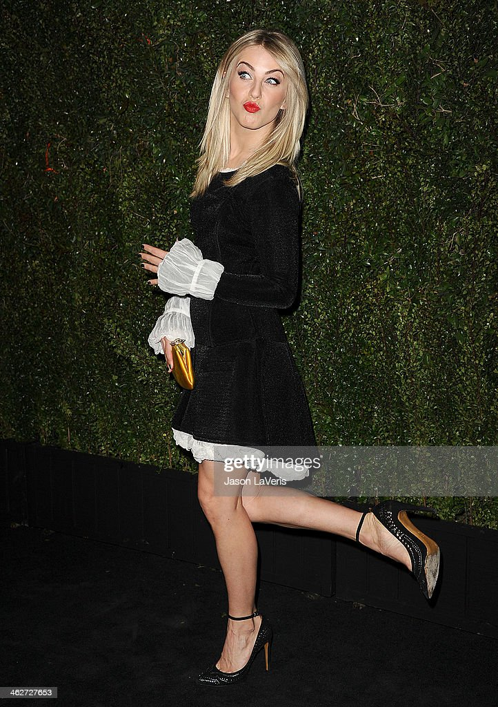 Actress <a gi-track='captionPersonalityLinkClicked' href=/galleries/search?phrase=Julianne+Hough&family=editorial&specificpeople=4237560 ng-click='$event.stopPropagation()'>Julianne Hough</a> attends the release of 'Find It In Everything' at Chanel Boutique on January 14, 2014 in Beverly Hills, California.