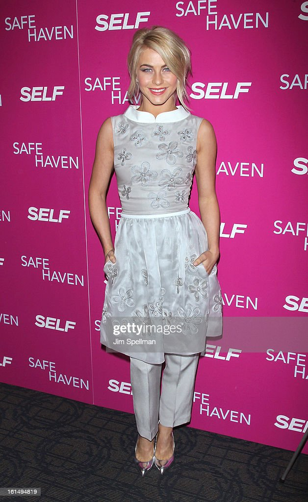 Actress <a gi-track='captionPersonalityLinkClicked' href=/galleries/search?phrase=Julianne+Hough&family=editorial&specificpeople=4237560 ng-click='$event.stopPropagation()'>Julianne Hough</a> attends the 'Safe Haven' premiere at Landmark's Sunshine Cinema on February 11, 2013 in New York City.