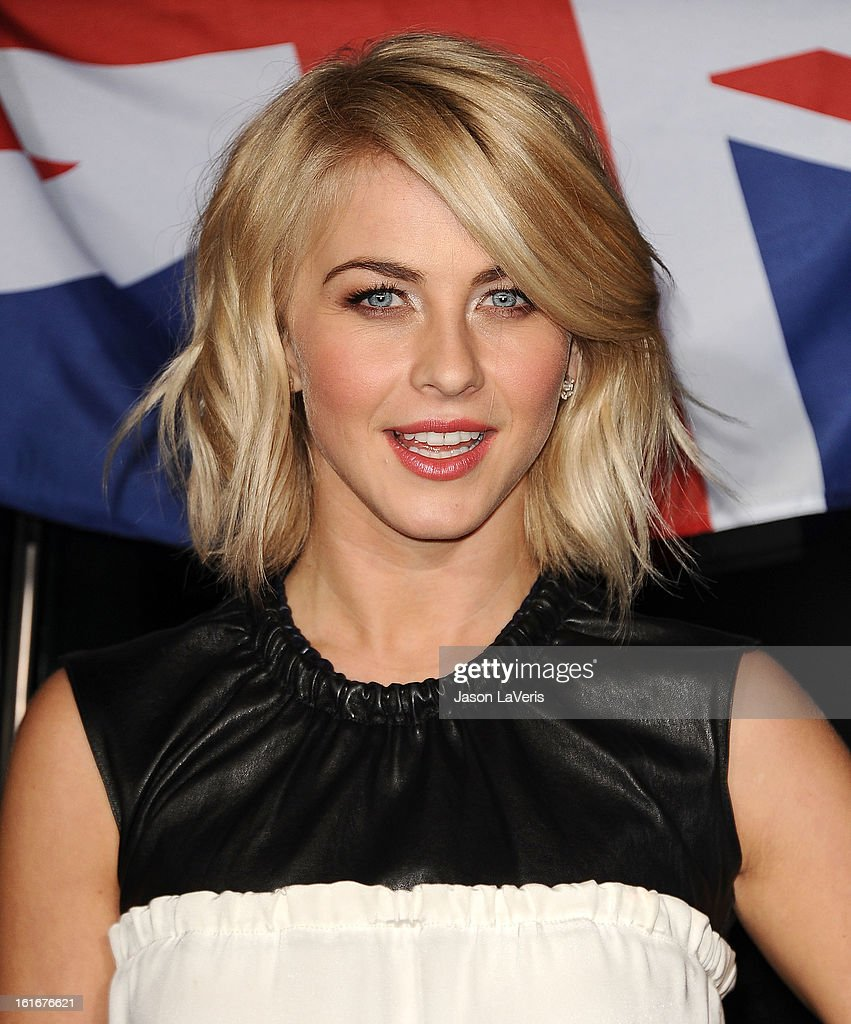 Actress <a gi-track='captionPersonalityLinkClicked' href=/galleries/search?phrase=Julianne+Hough&family=editorial&specificpeople=4237560 ng-click='$event.stopPropagation()'>Julianne Hough</a> attends the Topshop Topman LA flagship store opening party at Cecconi's Restaurant on February 13, 2013 in Los Angeles, California.