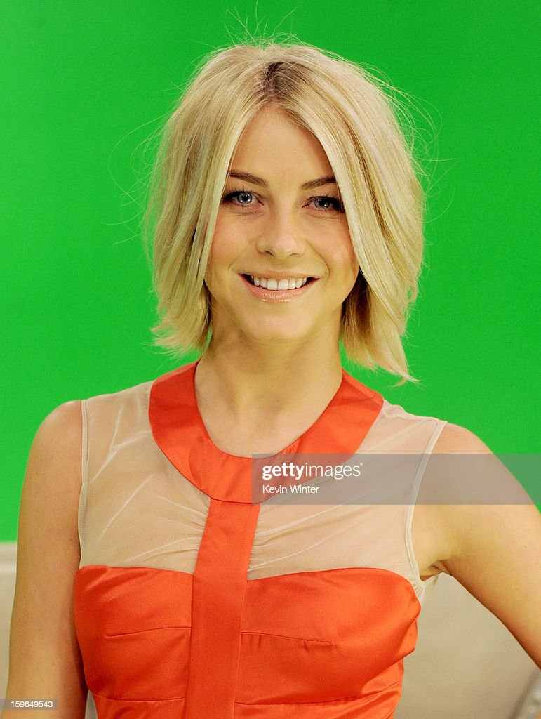 Actress Julianne Hough poses at A Night with Nicholas Sparks' Safe Haven: Filmmakers, Author and Stars Bring The Book To Life at Castle Studios on January 17, 2013 in Burbank, California.