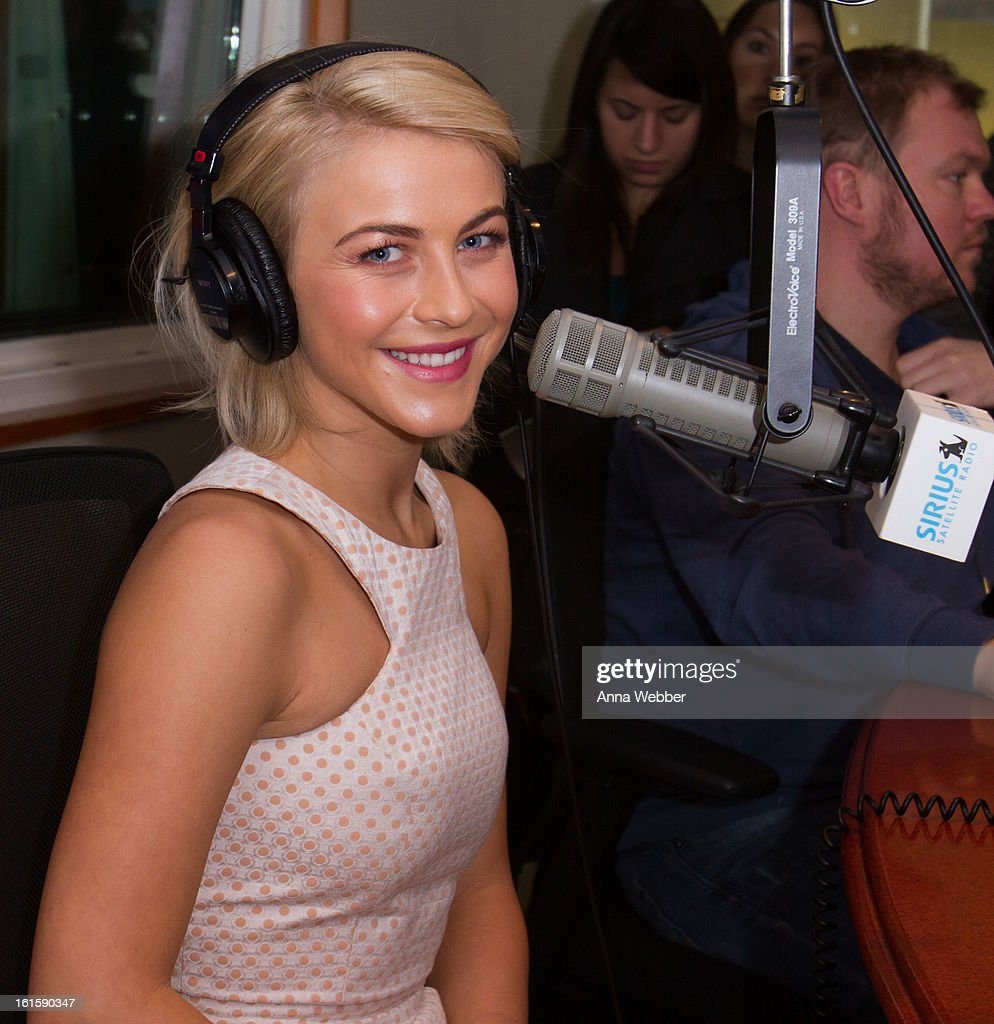 Actress <a gi-track='captionPersonalityLinkClicked' href=/galleries/search?phrase=Julianne+Hough&family=editorial&specificpeople=4237560 ng-click='$event.stopPropagation()'>Julianne Hough</a> visits SiriusXM Studios on February 12, 2013 in New York City.