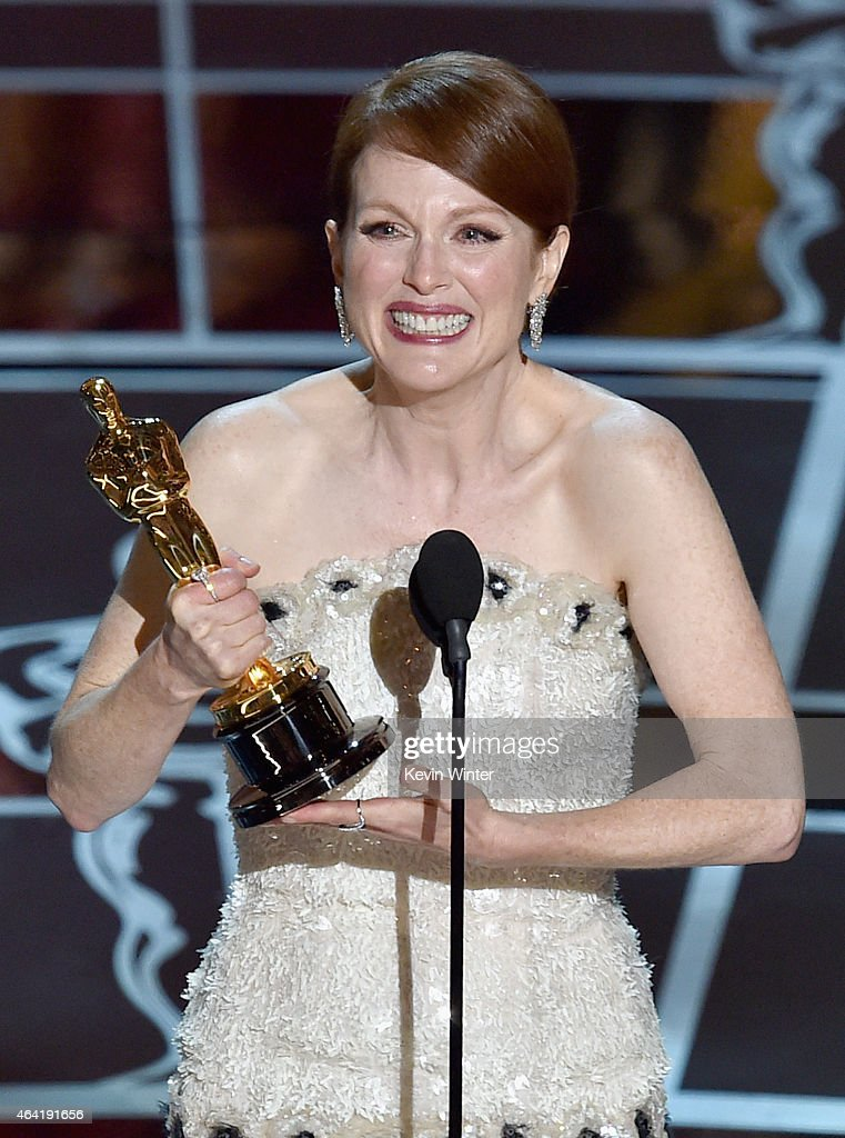 Actress Julianne Moore accepts the Best Actress in a Leading Role Award for 'Still Alice' onstage during the 87th Annual Academy Awards at Dolby Theatre on February 22, 2015 in Hollywood, California.