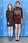 Actress Julianne Moore and actress Greta Gerwig attend the 'Maggie's Plan' photo call during the 66th Berlinale International Film Festival Berlin at...