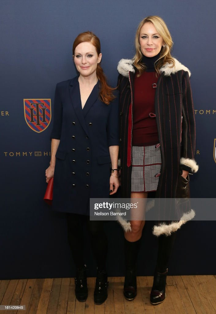 Actress <a gi-track='captionPersonalityLinkClicked' href=/galleries/search?phrase=Julianne+Moore&family=editorial&specificpeople=171555 ng-click='$event.stopPropagation()'>Julianne Moore</a> and Dee Hilfiger attend the Tommy Hilfiger Fall 2013 Women's Collection fashion show during Mercedes-Benz Fashion Week at the Park Avenue Armory on February 10, 2013 in New York City.