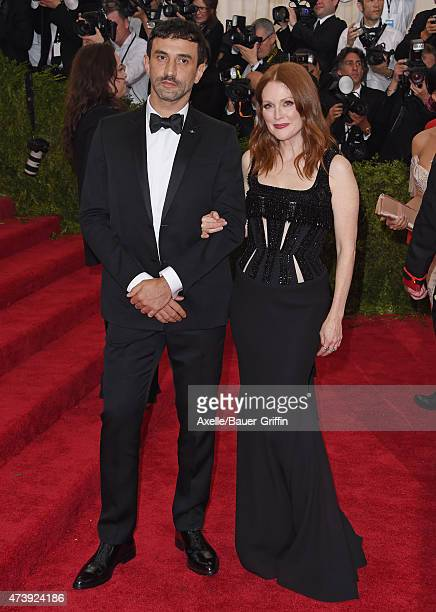 Actress Julianne Moore and designer Riccardo Tisci attend the 'China Through The Looking Glass' Costume Institute Benefit Gala at the Metropolitan...
