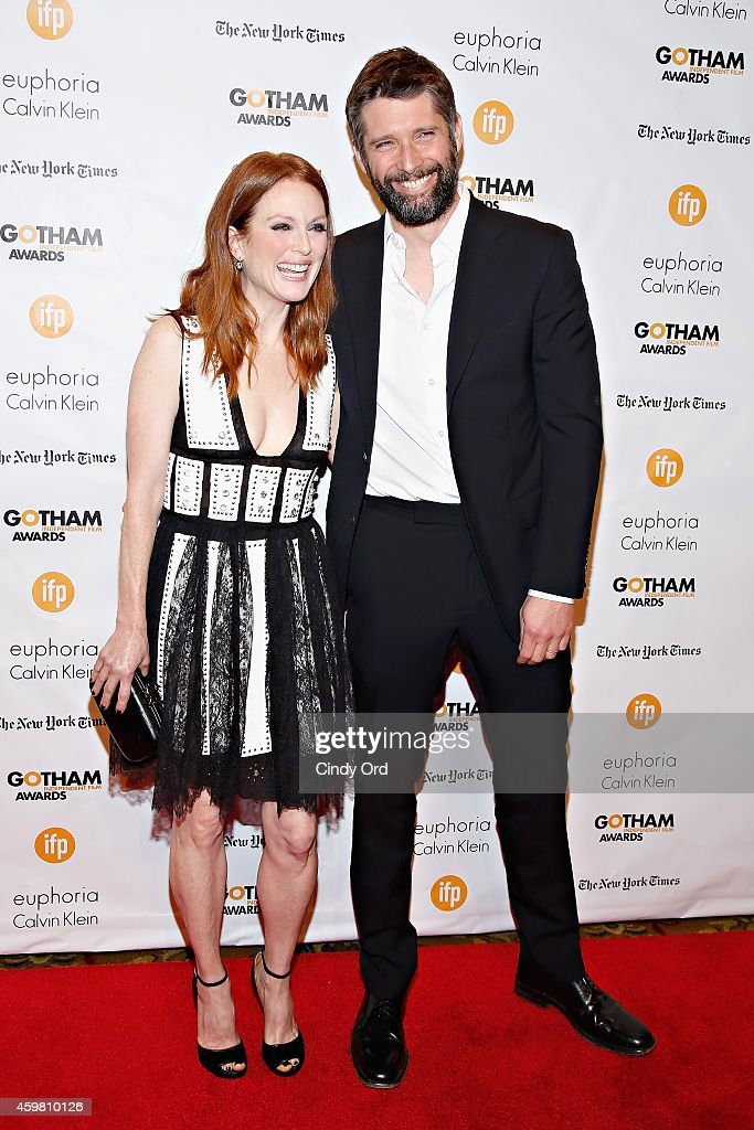 Actress Julianne Moore and director Bart Freundlich attend the 24th Annual Gotham Independent Film Awards at Cipriani Wall Street on December 1 2014...