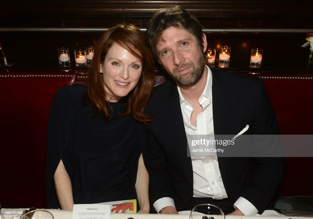 Actress <a gi-track='captionPersonalityLinkClicked' href=/galleries/search?phrase=Julianne+Moore&family=editorial&specificpeople=171555 ng-click='$event.stopPropagation()'>Julianne Moore</a> and her husband, director <a gi-track='captionPersonalityLinkClicked' href=/galleries/search?phrase=Bart+Freundlich&family=editorial&specificpeople=206797 ng-click='$event.stopPropagation()'>Bart Freundlich</a> attend the Chanel Tribeca Film Festival Artist Dinner during the 2014 Tribeca Film Festival at Balthazar on April 22, 2014 in New York City.