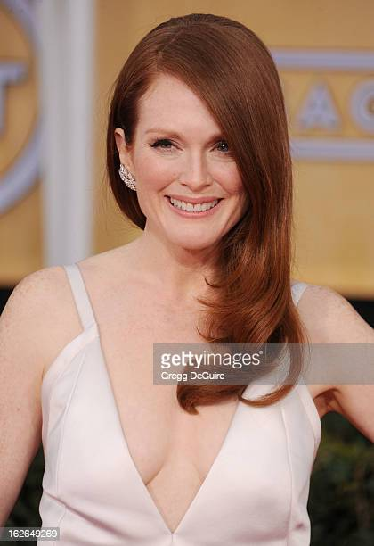 Actress Julianne Moore arrives at the 19th Annual Screen Actors Guild Awards at The Shrine Auditorium on January 27 2013 in Los Angeles California