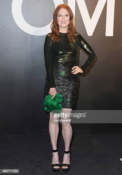 Actress Julianne Moore arrives at Tom Ford Autumn/Winter 2015 Womenswear Collection Presentation at Milk Studios on February 20 2015 in Los Angeles...