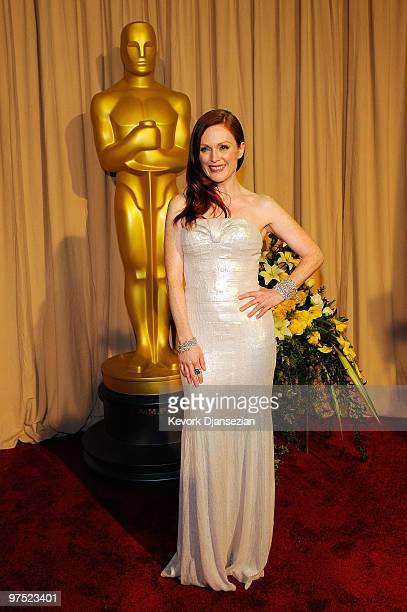 Actress Julianne Moore arrives backstage at the 82nd Annual Academy Awards held at Kodak Theatre on March 7 2010 in Hollywood California