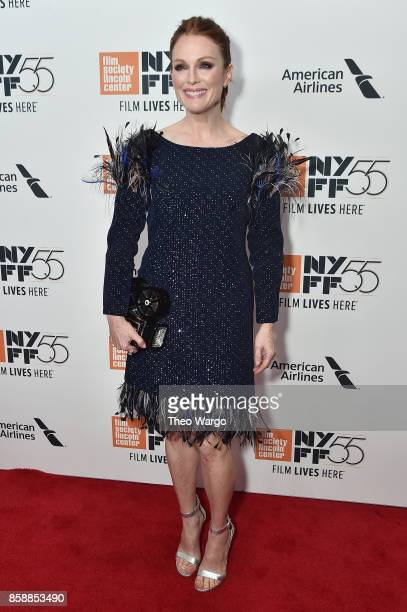 Actress Julianne Moore attends 55th New York Film Festival screening of 'Wonderstruck' at Alice Tully Hall on October 7 2017 in New York City