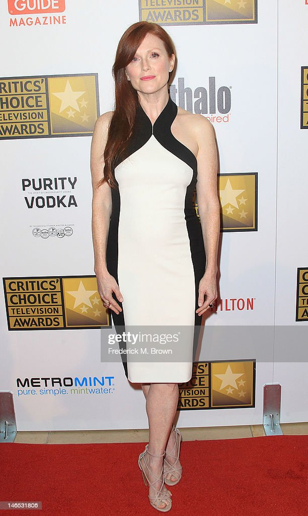 Actress <a gi-track='captionPersonalityLinkClicked' href=/galleries/search?phrase=Julianne+Moore&family=editorial&specificpeople=171555 ng-click='$event.stopPropagation()'>Julianne Moore</a> attends Broadcast Television Journalists Association Second Annual Critics' Choice Awards at The Beverly Hilton Hotel on June 18, 2012 in Beverly Hills, California.