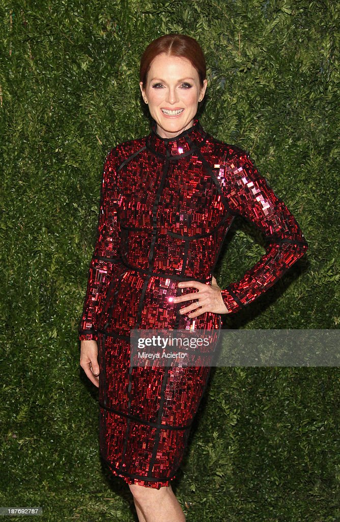 Actress Julianne Moore attends CFDA and Vogue 2013 Fashion Fund Finalists Celebration at Spring Studios on November 11 2013 in New York City