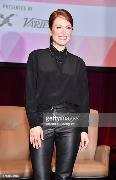 Actress Julianne Moore attends CinemaCon's final day luncheon and special presentation at Caesars Palace during CinemaCon the official convention of...