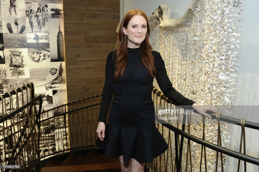 Actress Julianne Moore attends DuJour Magazine Summer Issue celebrating the Julianne Moore cover on June 10, 2013 at Marlin Bar at Tommy Bahama in New York City.