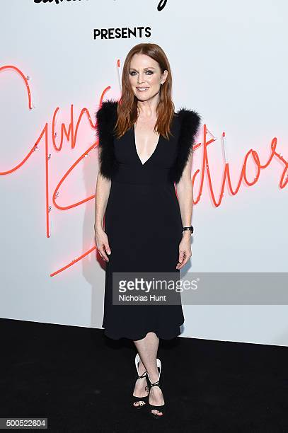 Actress Julianne Moore attends 'Ferragamo Presents Gancio Studios Celebrating 100 Years In Hollywood' at Gancio Studios on December 8 2015 in New...