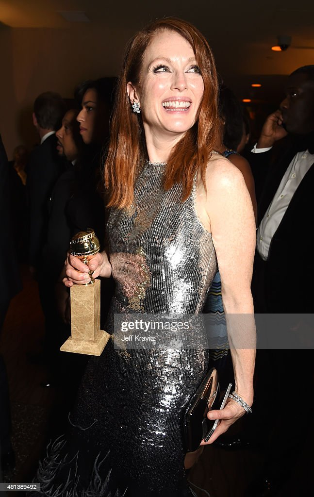 Actress Julianne Moore attends HBO's Official Golden Globe Awards After Party at The Beverly Hilton Hotel on January 11 2015 in Beverly Hills...