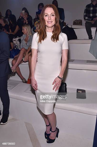 Actress Julianne Moore attends Ralph Lauren Spring 2016 during New York Fashion Week The Shows at Skylight Clarkson Sq on September 17 2015 in New...
