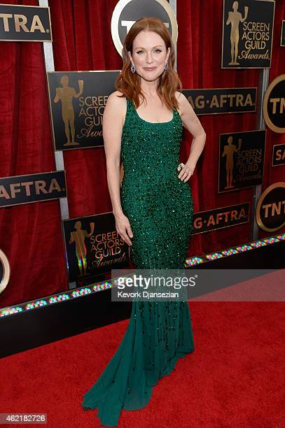 Actress Julianne Moore attends the 21st Annual Screen Actors Guild Awards at The Shrine Auditorium on January 25 2015 in Los Angeles California