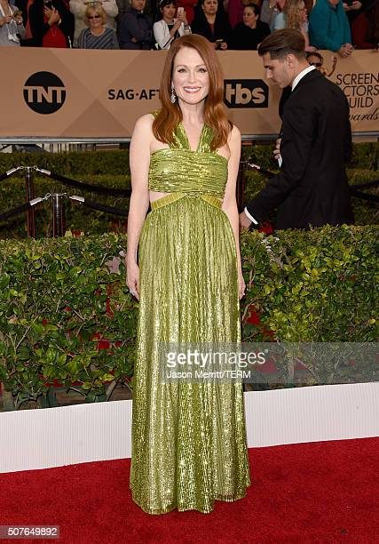Actress Julianne Moore attends The 22nd Annual Screen Actors Guild Awards at The Shrine Auditorium on January 30 2016 in Los Angeles California...