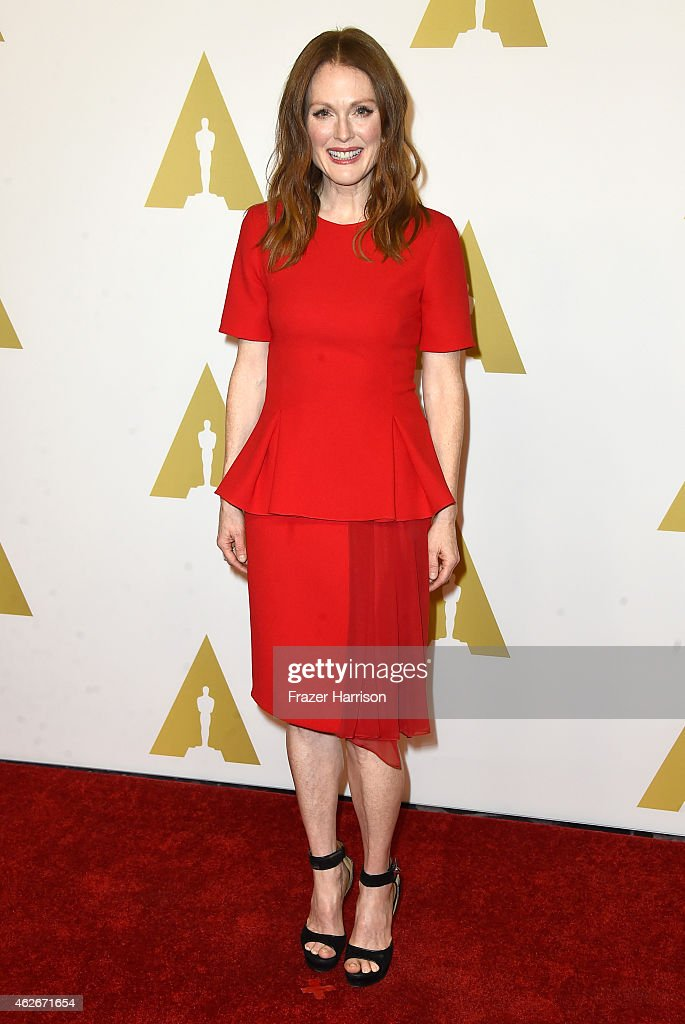 Actress Julianne Moore attends the 87th Annual Academy Awards Nominee Luncheon at The Beverly Hilton Hotel on February 2 2015 in Beverly Hills...